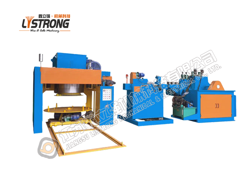 Inverted vertical steel wire drawing machine