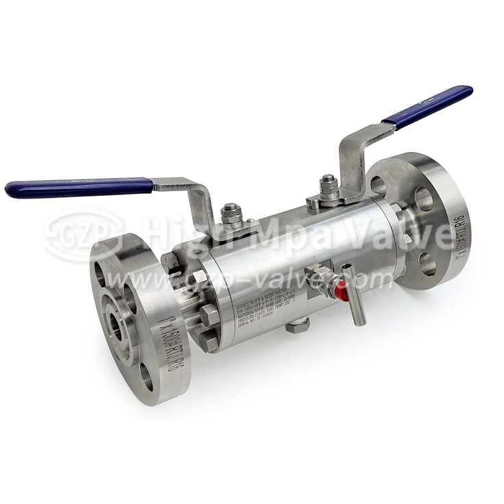 stainless steel lever DBB ball valve