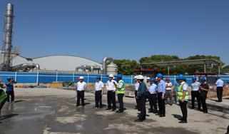 钱志刚等领导视察安亭污水处理厂三期项目