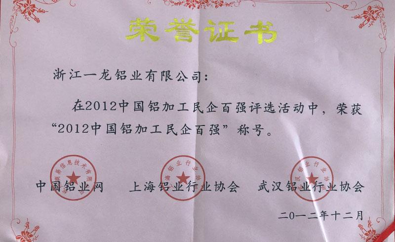 2012中國鋁加工民企百強