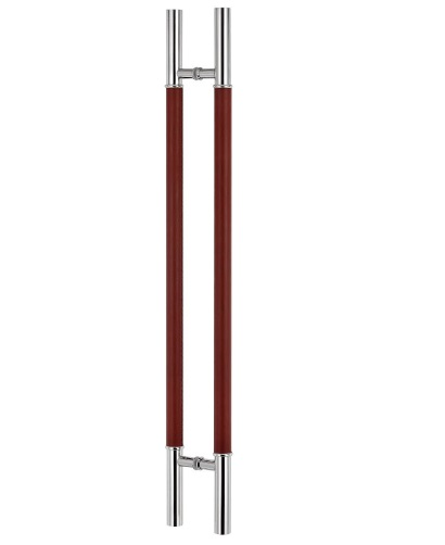 Brown Leather Glass Ladder Pull Handle