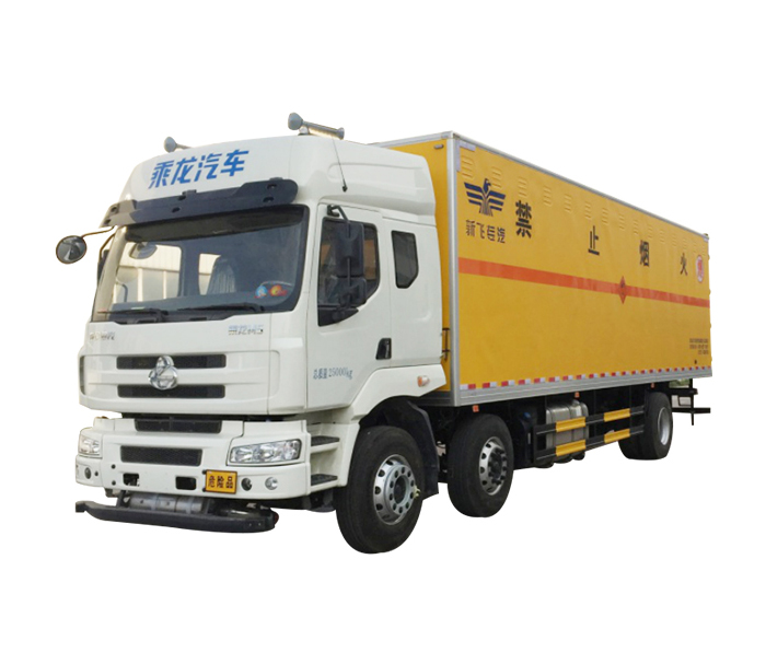 Hazardous goods van truck