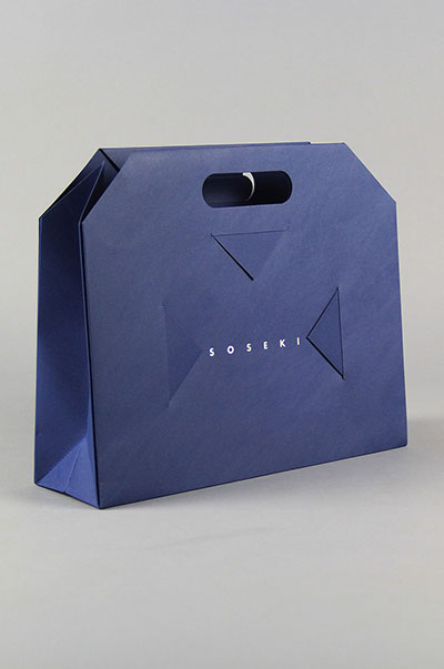 Creative folding paper bag, no glue bonding, patented products