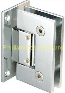 Adjustable wall mount full back plate shower hinges