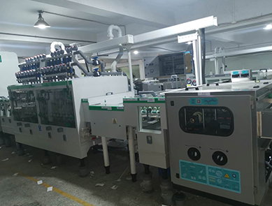 Pre-solder (super rough) processing line