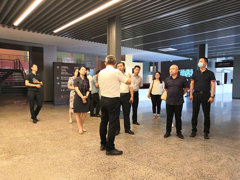 鄭州二七區蘭海副區長一行到大信家居總部考察調研