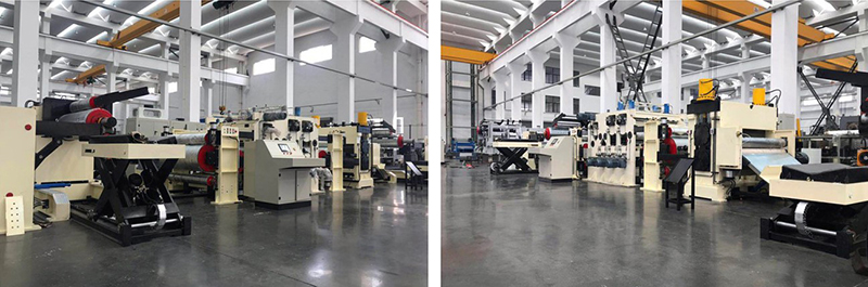 Metal coil (steel plate≤2mm, stainless steel plate≤2mm, aluminum plate≤4mm) straightening and embossing production line