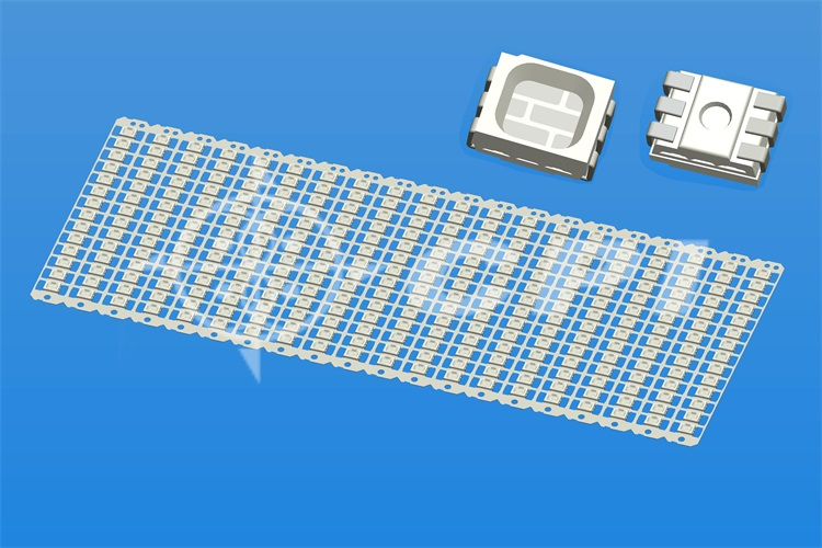 LED3528 full color 14 rows in-line six-pin positive chip holder white plastic square cup depth 0.54 total height 1.50 (14X20) (P03331C)