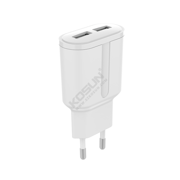 12W Dual USB Ports European Wall Charger