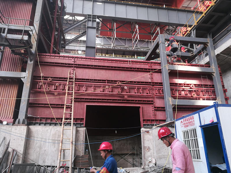 Power plant waste heat boiler site