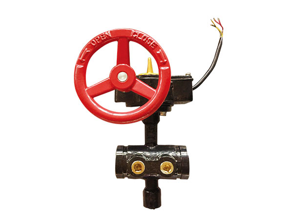 Fire fighting UL/ULC Standard 300PSI /175PSI backflow Butterfly Valve  fire protection Grooved type