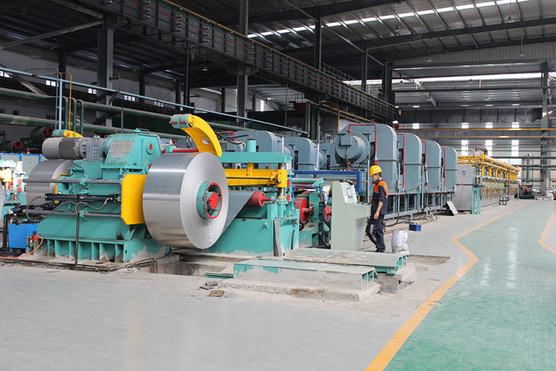 Bright annealing line for horizontal looper (LPG heated)