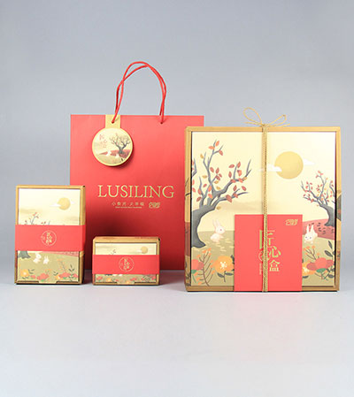 Creative Kraft Carton Customized mooncake box gift bag