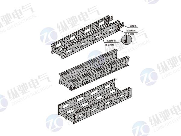 組合式直通橋架組裝示意圖