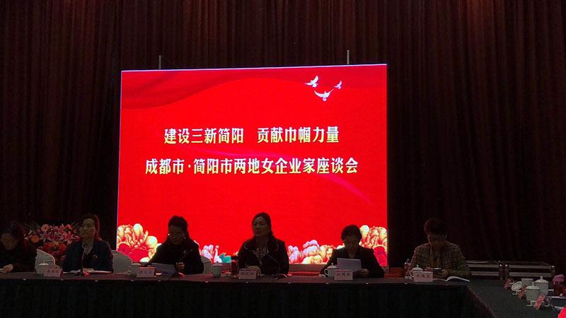 簡陽市婦聯在城市名人酒店舉辦成都簡陽兩地女企業家座談會