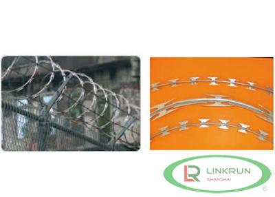 Razor wire galvanized