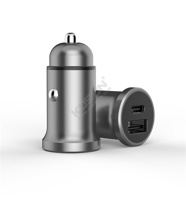 PD 18W +5V/2.4A Metal Housing Car Charger