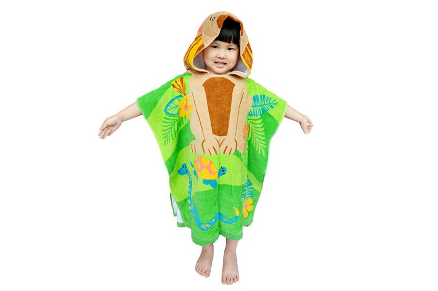 兒童連帽浴巾