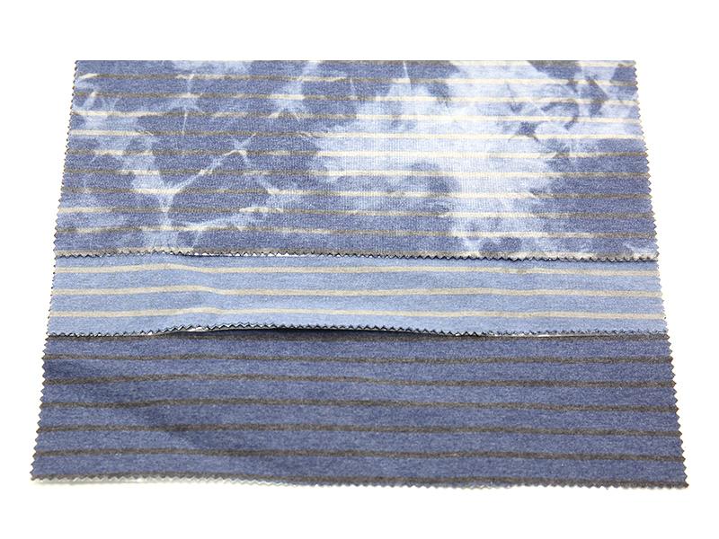 WFSC41833T-CR24 靛蓝彩条双面健康布(人棉混纺)