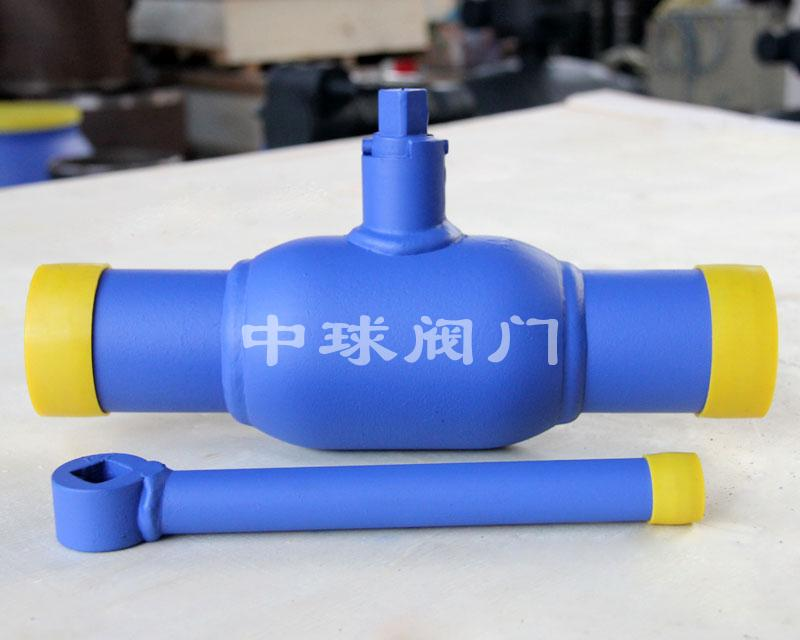 Handle type fully welded ball valve Q61F DN50