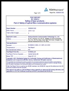 OSA: IEC/EN 60825-2