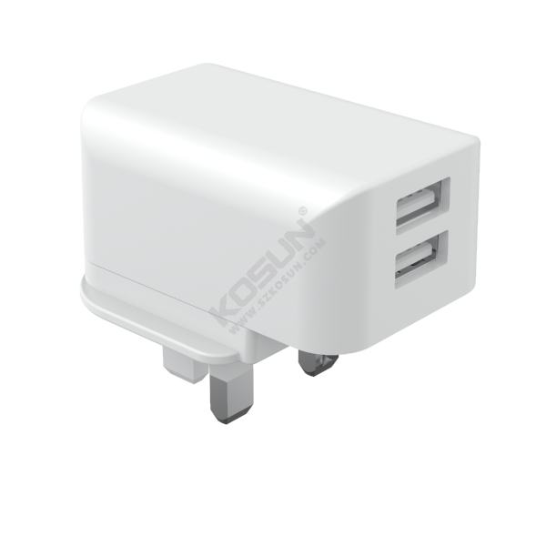 5W/12W Dual USB Ports UK Mains Charger