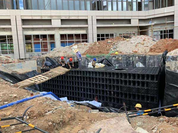 深圳_觀瀾廠區雨水收集利用系統模塊水池項目工程