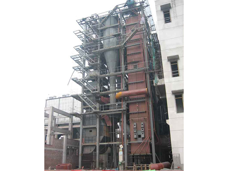 75t/h medium temperature medium pressure circulating fluidized bed boiler installation site