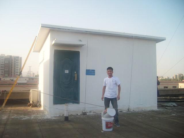 中国联通许昌市分公司基站板房隔热施工