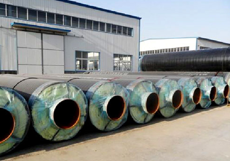 High temperature direct buried steam insulation (steel jacket steel)