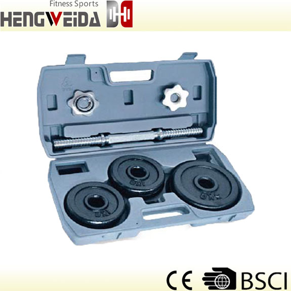 HWD3201-10KG Black Painted Dumbbell Set