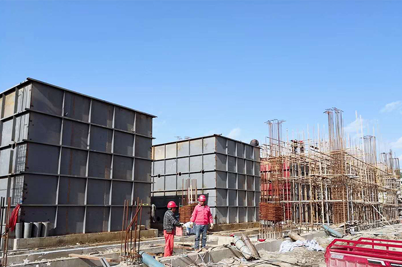 4 sets of 250 tons/hour high turbidity automatic water purifiers of running-water company in Tianzhu County, Gansu Province