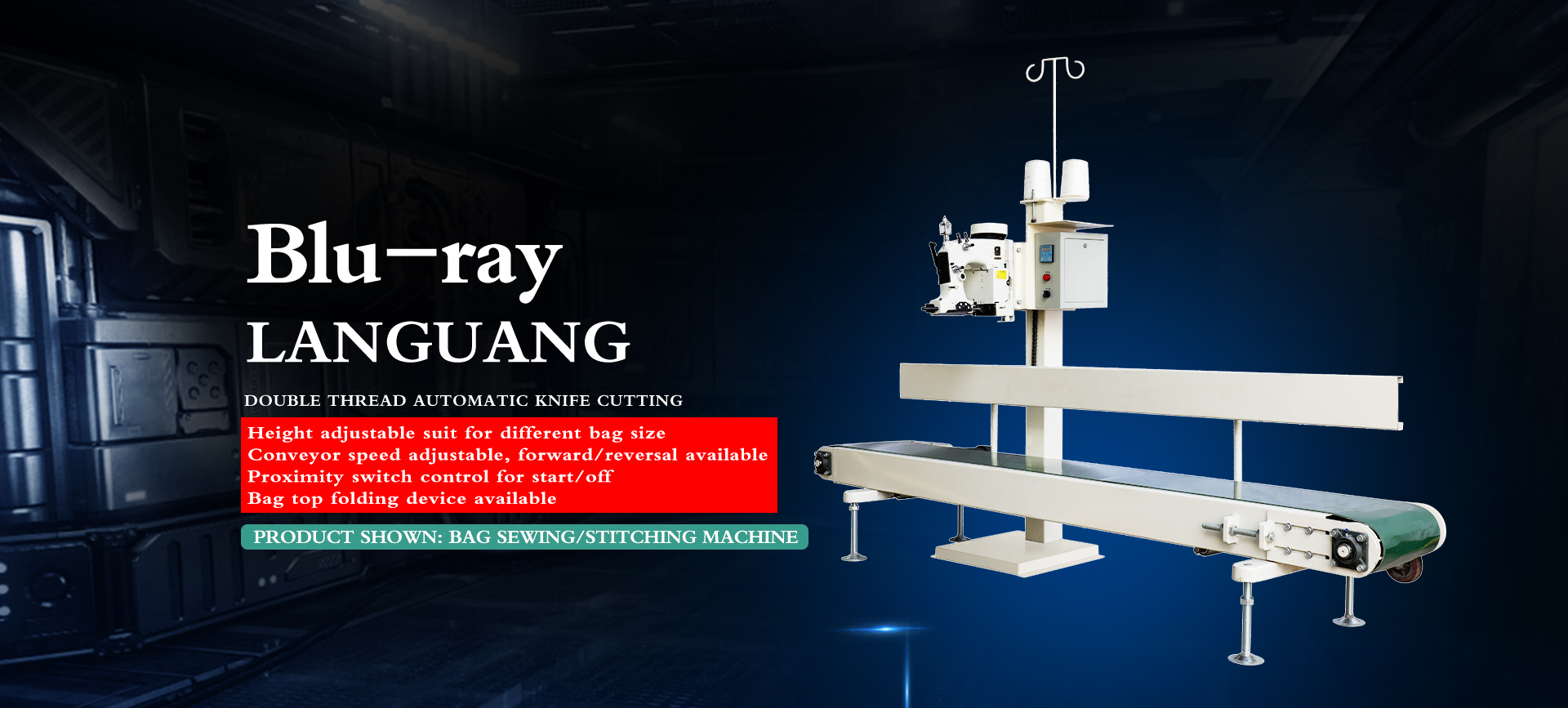 High speed bag sewing machine with Frequency change motor control