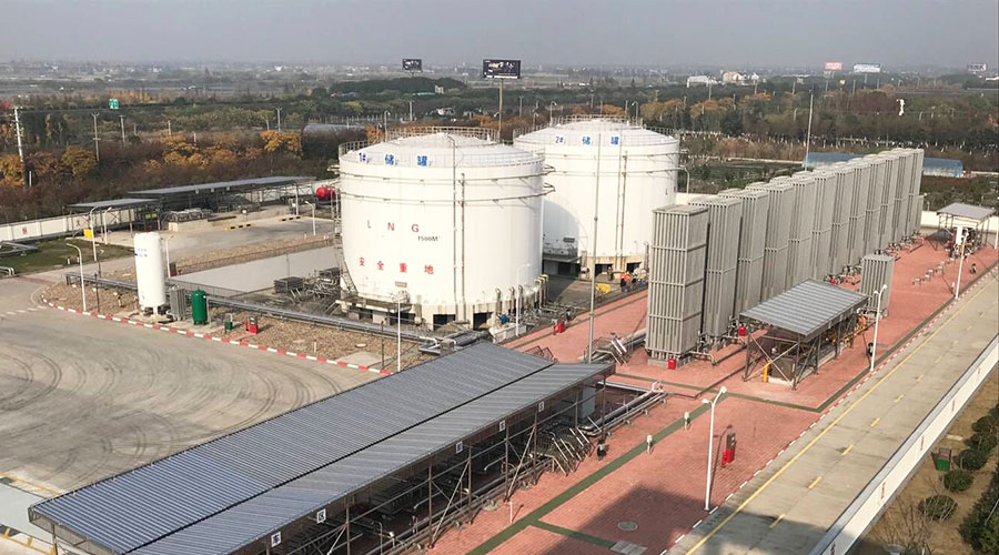 江蘇常熟市液化天然氣LNG儲罐場工程