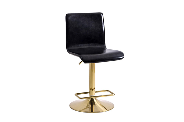 Brass swivel bar stool chair with foot rest 1580k-1 g