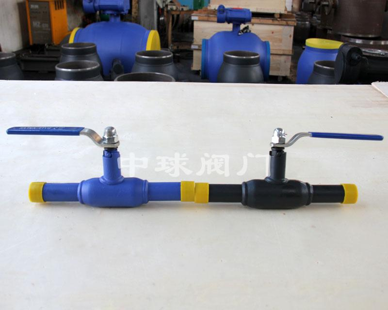 Handle type fully welded ball valve Q61F DN25