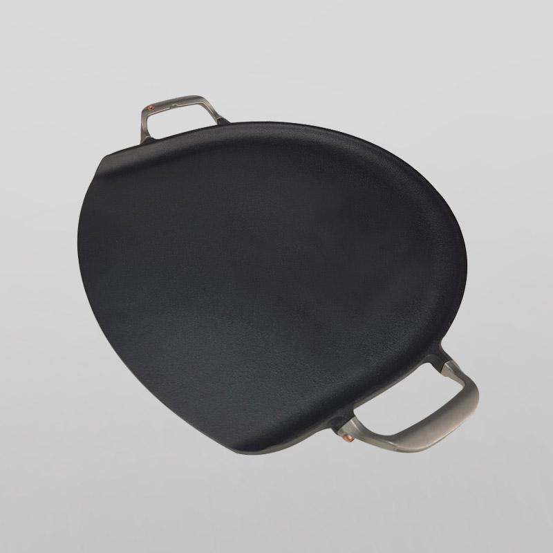 Pre-seasoned Flapjack cast iron bakeing plate