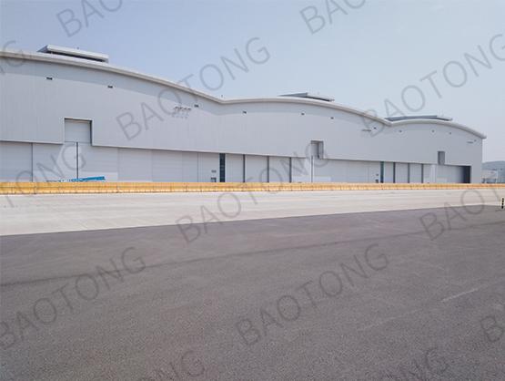 舟山波音 737-MAX 完成交付中心103號噴漆機庫