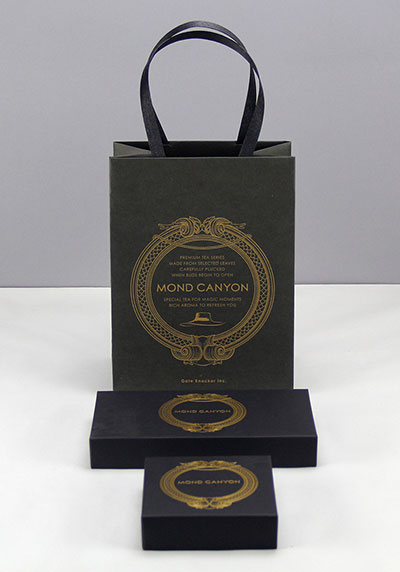 Creative black card kraft paper gift box  custom packaging carton