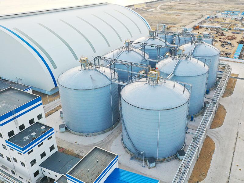 大唐集團葫蘆島6座粉煤灰鋼板庫工程
