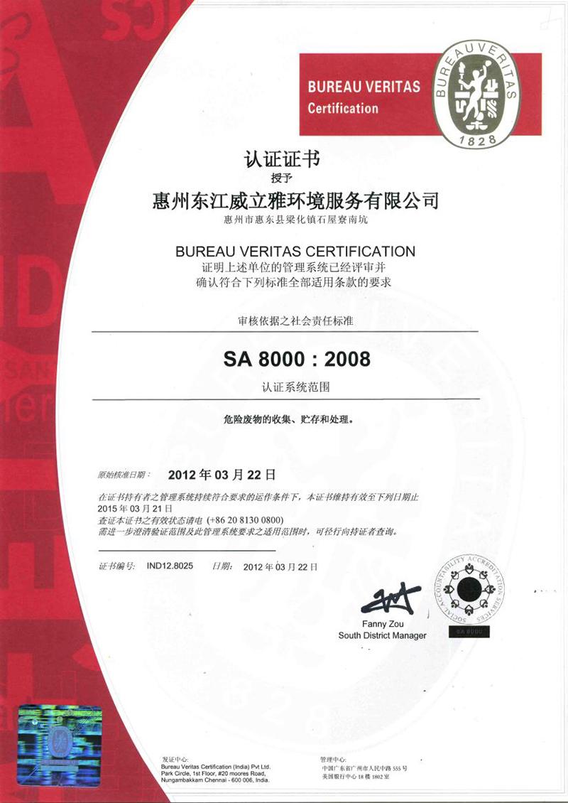 SA:8000  2008 中文版