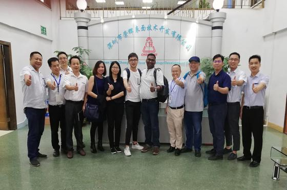 Osram and China porcelain to our technical cooperation and exchange