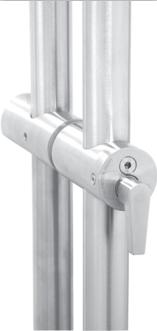 ADA locking ladder pull handle