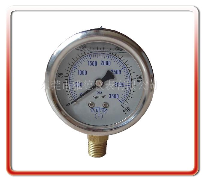 60MM徑向耐震油壓表