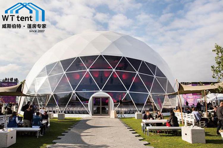 威斯伯特户外活动车展展览帐篷PVC展会球形篷房