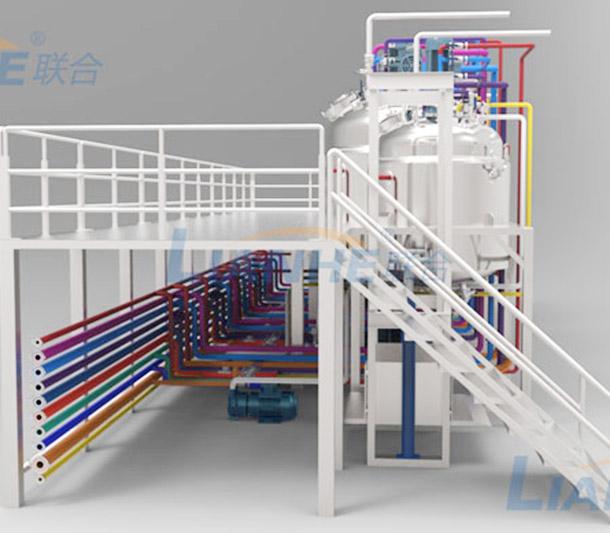 【广州联合机械】客户,真空乳化机组整体平台设计方案。