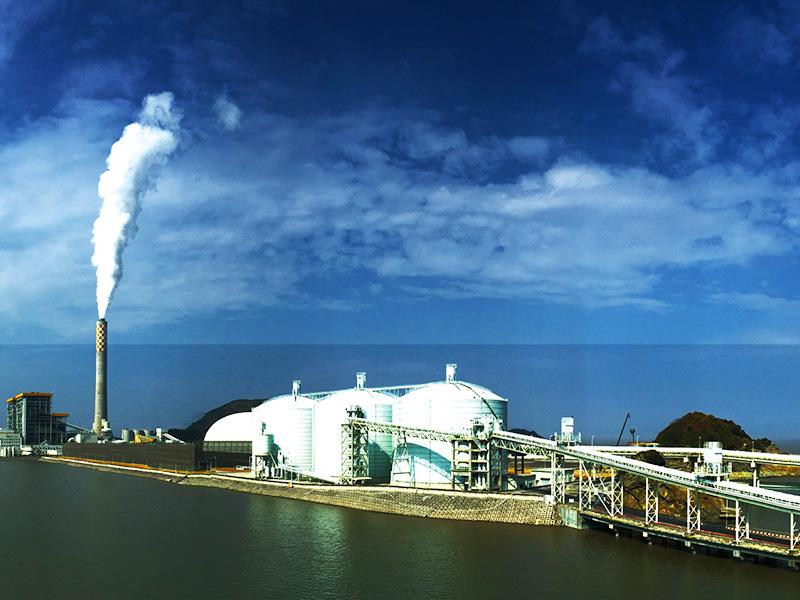 華潤集團蒼南電廠3座5萬方粉煤灰鋼板庫工程