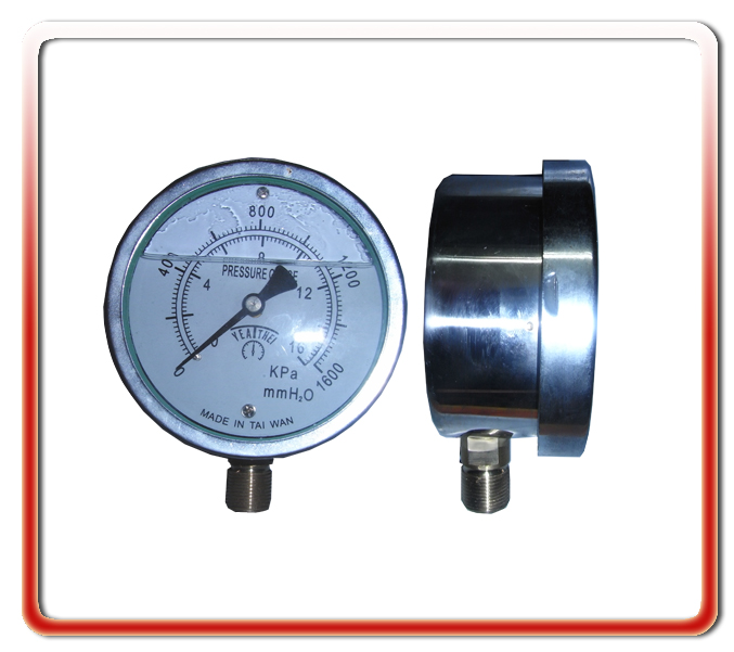 100MM徑向耐震充油微壓表