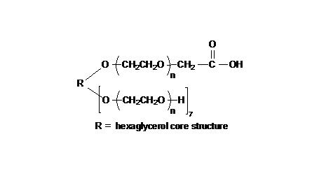 8arm PEG, 7arm-Hydroxyl, 1arm- Carboxyl