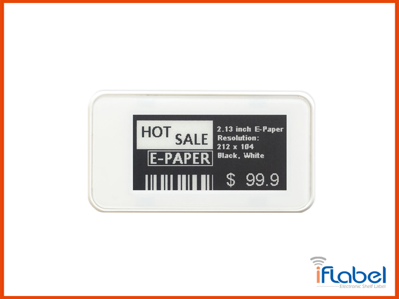 2.13 inch Passive NFC-Powered Electronic Shelf Label Wireless, No Battery, e-Paper Display